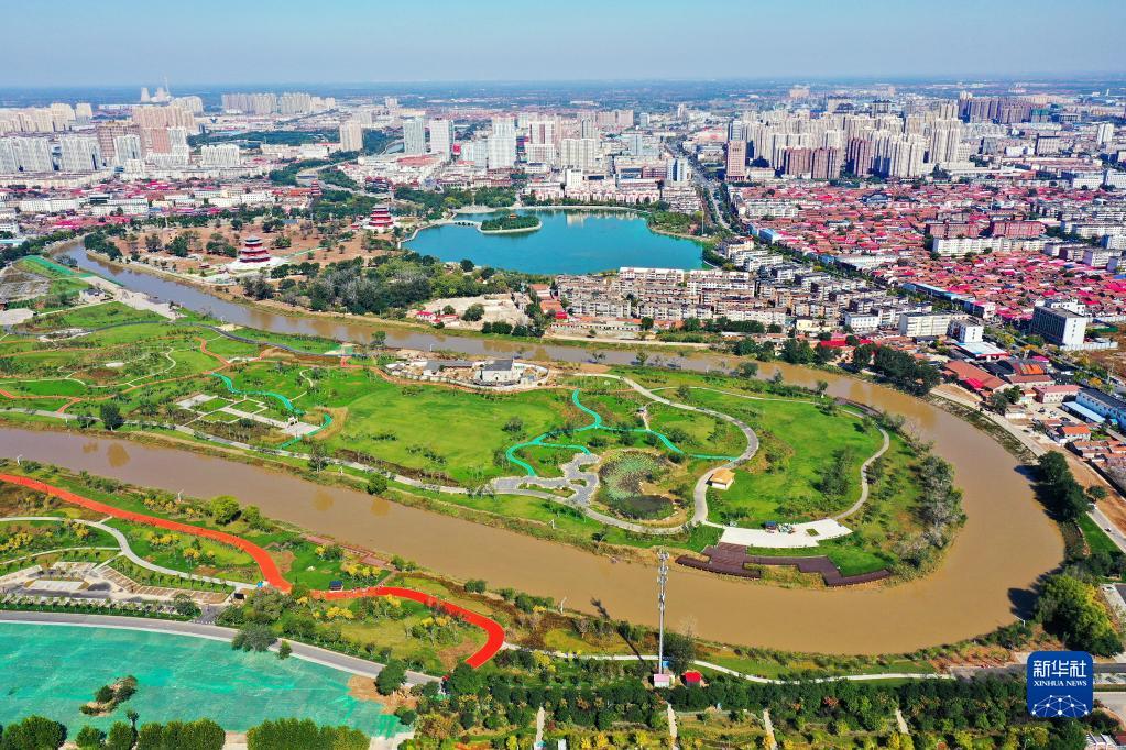 沧州市内一道靓丽的风景线